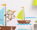 Children's Wall Decals - Boats & Monkey 3