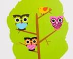 Three Trees & Little Owls Wall Decal/Sticker 2