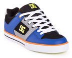 DC Men's Pure Shoe - Blue/Grey 4
