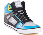 DC Men's Spartan High WC Shoe - Armor/Turquoise 4