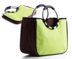 Easy Insulated Fold-Flat Shopping Tote - Green 1