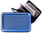 Slim Aluminium Card Wallet - Blue 4