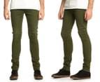 Men's Wrangler Strangler Super Slim Fit Jeans - Army Green 1