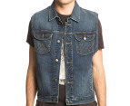 Wrangler Men's Trucker Denim Vest - Indigo 1
