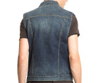 Wrangler Men's Trucker Denim Vest - Indigo 3