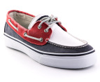 Sperry Men's Bahama Boat Shoe - Navy/White/Red 4