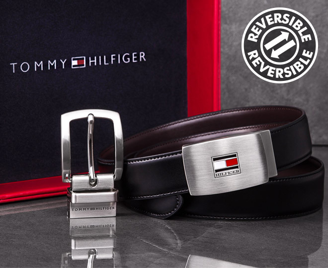 75b117a6e064 Tommy Hilfiger Reversible Leather Belt Gift Pack