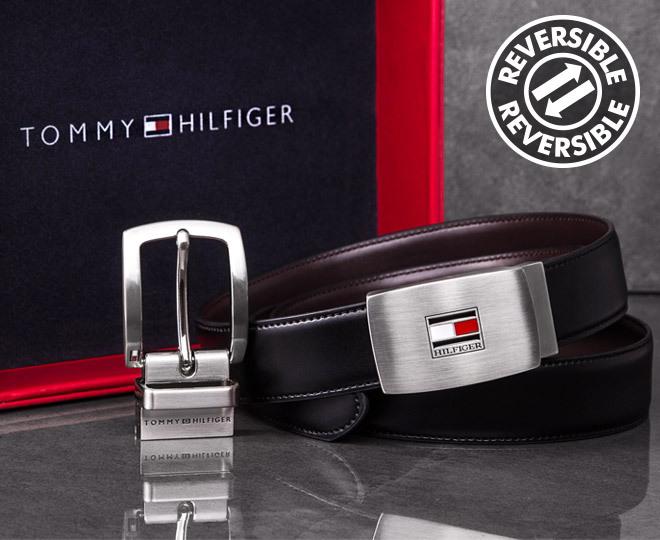 0f90c6cfcfcc Tommy Hilfiger Reversible Leather Belt Gift Pack