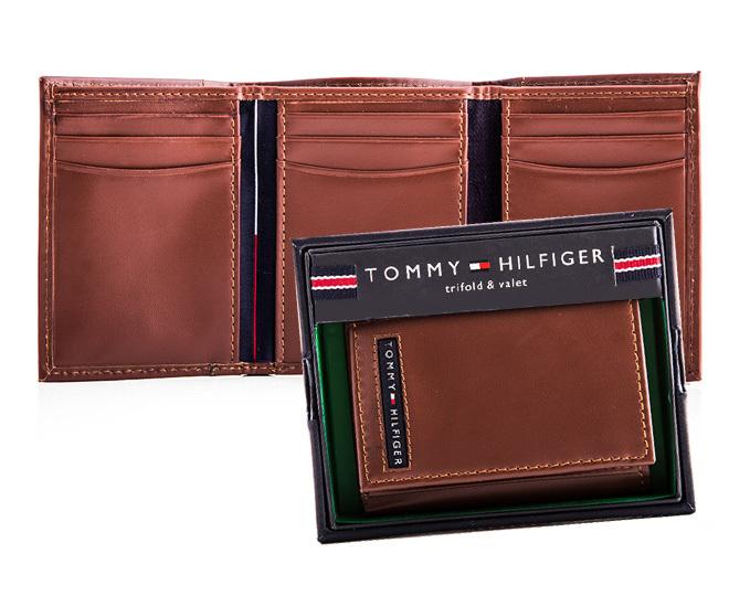 tommy hilfiger cambridge trifold pull up wallet tan ebay. Black Bedroom Furniture Sets. Home Design Ideas