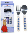 Royal Doulton Bunnykins Spoon and Fork - Shining Stars Design 2