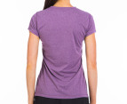 New Balance Women's Heather Tech Tee - Grape 3