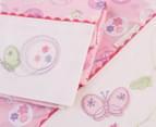 Bubba Blue Butterfly Garden Cot Sheet Set - Pink 3