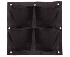 Four Pocket Wall Planters - Black 7