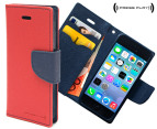 Press Play PocketFolio Wallet Case for iPhone 5/5S - Red/Navy 1