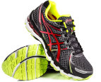 ASICS Men's Gel Kayano 19 - Black/Red/Lime - US 7.5 4