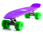 Retro Freestyle Skateboard - Purple/Green 1