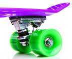 Retro Freestyle Skateboard - Purple/Green 2