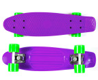Retro Freestyle Skateboard - Purple/Green 3