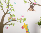 Children's Wall Decals - Green Elephant & Friends 2