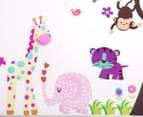 Jungle Animals & Tree Children's Wall Decals 2