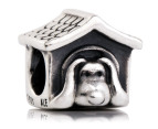 Pandora Doghouse Charm - Silver/Red 1