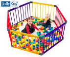 Jolly KidZ Smart Hexagon Playpen - Blue/Orange/Yellow 1