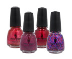 China Glaze Nail Lacquer 4-Pack - Be Merry 4