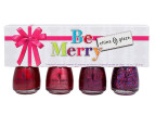 China Glaze Nail Lacquer 4-Pack - Be Merry 1