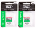 2 x Listerine Reach Cleanburst Floss 50m 1