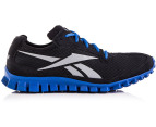 Reebok Men's Realflex - Black/Flat Grey/Buff Blue 1