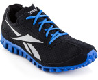 Reebok Men's Realflex - Black/Flat Grey/Buff Blue 2
