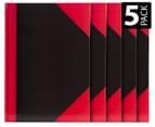 Spirax A4 Black & Red Basics Notebook 5-Pack 1