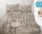 Retro Queen Quilt Cover Set - Parisienne 1