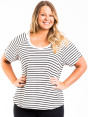 Bonds Women's Plus Size Scoop Raglan Tee - Grey Marle/Black 4