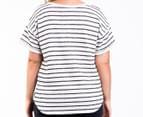 Bonds Women's Plus Size Sweater Tee - Grey Marle/Black 3
