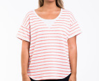 Bonds Women's Plus Size Sweater Tee - Grey Marle/Fizz  1