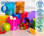 Sistema Klipo 450mL Round Containers 8-Pack 1