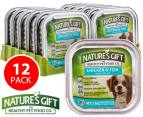 12 x Nature's Gift Chicken & Fish Dog Food Trays 100g 1