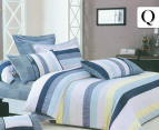 Ardor Kalani Queen Quilt Cover Set Blue Catch Com Au