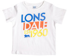 Lonsdale Toddler Scrope Tee - White 1