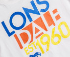 Lonsdale Toddler Scrope Tee - White 3