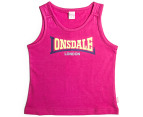 Lonsdale Toddlers' Purles Singlet - Hot Rose 1