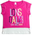 Lonsdale Toddlers' Shevington Top - Hot Rose 4