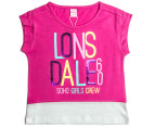 Lonsdale Toddlers' Shevington Top - Hot Rose 1