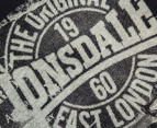 Lonsdale Boys' Grofhurst Tee - Black 3