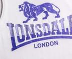 Lonsdale Boys' Malemayns Singlet - White 3