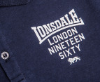 Lonsdale Boys' Borrow Polo - Navy 3