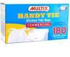 Multix Handy Tie Kitchen Tidy Bags Large 180pk 2