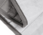 Ardor Boudoir King Single Classic Quilted Valance - Silver 4