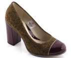 Clarks Women's Cornish Ice - Green Tweed 1